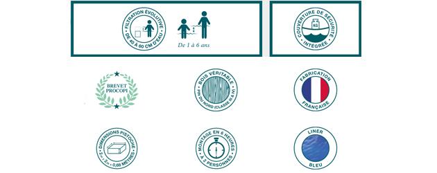 Piscine hors-sol bois BWT myPOOL Pistoche pour enfants 2.26x2.26x0.68m - Piscinette bois BWT myPOOL PISTOCHE pour enfants Un kit parfait pour barbotter