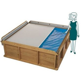 Piscine hors-sol bois BWT myPOOL Pistoche pour enfants 2.26x2.26x0.68m - Equipement de la piscinette Pistoche pour enfant