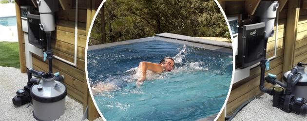 Piscine bois hors-sol BWT myPOOL Urbaine LUXE 6.00x2.50m avec pompe a chaleur - Les piscines URBAINE offre le meilleur de la technique et de la sécurité