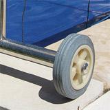 Enrouleur telescopique pour piscine enterree de 4,20 a 5,50 m - Détails de l'enrouleur télescopique Aqualux pour piscine enterrée