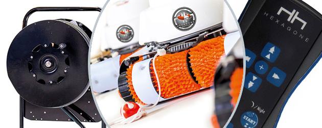 Robot de piscine electrique Hexagone VIKING MP3 XL avec radiocommande et chariot - Le robot piscine électrique professionnel Hexagone VIKING MP3 XL