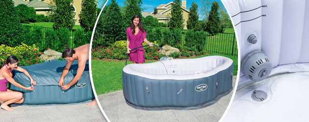 Spa gonflable Bestway LAY-Z-SPA SIENA AIRJET 249 x 149 x 66cm semi-rigide 2 places - Spa gonflable Bestway LAY-Z-SPA SIENA AIRJET Détente et relaxation au programme