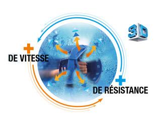 Paire de bracelets bleu 3D AQUASTRENGHT Hexagone - La paire de bracelets bleu 3D Aquastrenght HEXAGONE + de vitesse et - de résistance