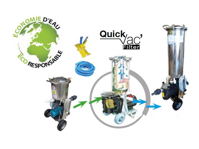 Systeme Quick VAC' Filter niveau 3 pour robot de piscine electrique Hexagone EXTRA TOP 2 - Système Quick VAC' Filter niveau 3 pour robot de piscine électrique Hexagone EXTRA TOP 2