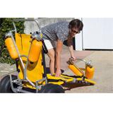 Fauteuil de mise a l'eau mobile UNIKART 150 HEXAGONE - Caractéristiques du fauteuil UNIKART 150 HEXAGONE