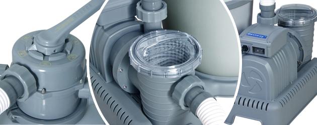 Filtre a sable Bestway FLOWCLEAR 7,5L/h avec vanne 6 voies - Avantages du filtre à sable Bestway FLOWCLEAR 7,5L/h avec vanne 6 voies