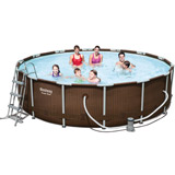 Kit piscine Bestway POWER STEEL RATTAN FRAME POOLS ronde Ø427 x 107cm aspect tresse - Caractéristiques techniques des piscines Bestway POWER STEEL RATTAN FRAME POOLS ronde Ø427 x 107cm aspect tressé