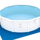 Kit piscine Bestway STEEL WALL POOLS ovale 610 x 360 x 120 cm filtration a sable - Caractéristiques techniques des piscines Bestway STEEL WALL POOLS 610 x 360 x 120 cm filtration à sable