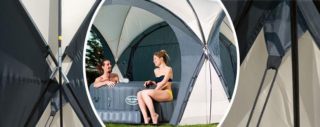 Dome Bestway piscine et spa 390cm x 390cm x H255cm - Dome Bestway piscine et spa 390cm x 390cm h255cm