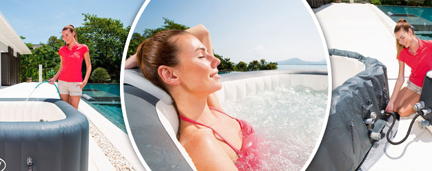 Spa gonflable Bestway LAY-Z-SPA HAWAII HYDROJET PRO 180x180x71cm 6 places - Spa gonflable Bestway LAY-Z-SPA HAWAII HYDROJET PRO Détente et relaxation au programme