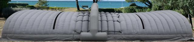 Abri de chantier gonflable Walter WALU PROTECT 7 metres - Avantages de l'abri gonflable WALU PROTECT 7 mètres