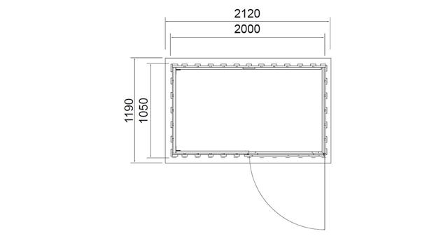 Abri de jardin en bois VALMOREL 2,1m² marron - Dimensions de l'abri de jardin VALMOREL