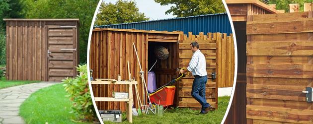 Abri de jardin en bois MEGEVE 4,4m² marron - Abri de jardin en bois MEGEVE Économique et fonctionnel