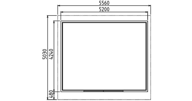 Abri de jardin en bois CHAMONIX 20m² Gris - Dimensions de l'abri de jardin en bois CHAMONIX