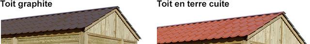 Abri de jardin modulable en bois MORZINE 11,6m² toiture graphite - Abri de jardin modulable en bois MORZINE Robuste et fonctionnel