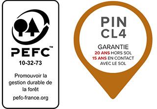 Pergola bois IBIZA en pin marron 6 x 4 m - Caractéristiques de la pergola bois IBIZA en Pin marron 6 x 4 m