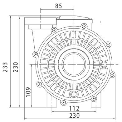 Pompe filtration 15m³/h Solubloc 10 compatible Desjoyaux P18 - Dimensions et performances de la pompe filtration 15m³/h Solubloc 10 compatible Desjoyaux P18
