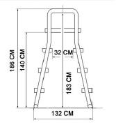 echelle avec plateforme de 1,20 a 1,33m SCP piscine hors-sol - Dimensions de l'échelle pour piscine hors sol avec plateforme