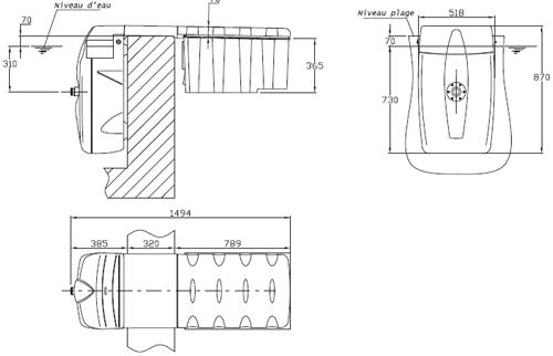 Bloc de filtration piscine MX25 Filtrinov 25m³/h - Installation du groupe de filtration MX25