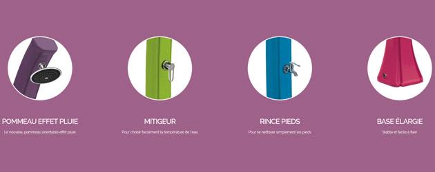 Douche solaire Formidra HAPPY GO 23L coloris anthracite - Avantages de la douche solaire Formidra