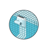 Robot piscine electrique Dolphin WAVE 50 avec chariot - Robot piscine électrique Dolphin WAVE 50 Une technique révolutionnaire