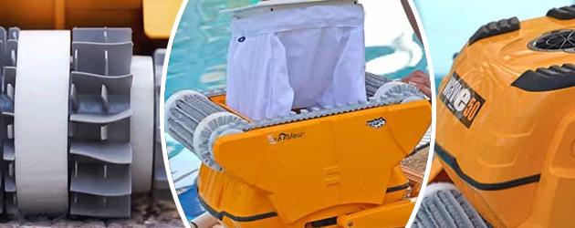 Robot piscine electrique Dolphin WAVE 50 avec chariot - Robot piscine électrique Dolphin WAVE 50 Un nettoyage ultra performant