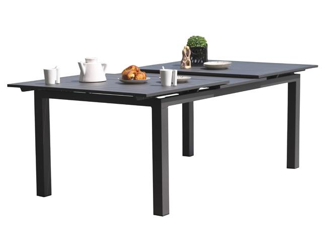 Table de jardin MIAMI aluminium avec rallonge 240/300x100x73cm Gris  anthracite