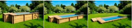 Piscine bois hors-sol BWT myPOOL Urbaine 6.50x3.50m couverture integree - Avantages de la piscine Urbaine BWT myPOOL
