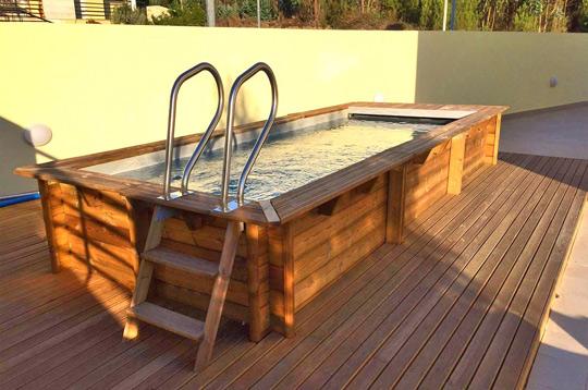 Piscine bois hors-sol BWT myPOOL Urbaine 6.50x3.50m couverture integree - Idée d'implantation de la piscine URBAINE Votre rêve devient accessible