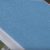 Transat COSTA resine blanc/turquoise - Transat COSTA Blanc/turquoise Une innovation au service de votre détente