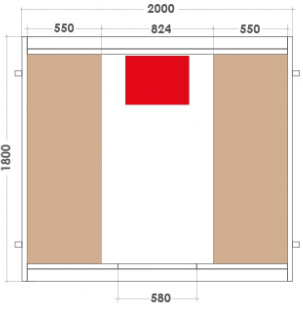 Sauna d'exterieur a vapeur BARREL 6 places - Dimensions du sauna d'extérieur à vapeur BARREL 6 places