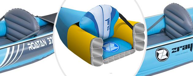 Kayak gonflable Zray ROATAN 376 2 places - Une structure en PVC armé robuste