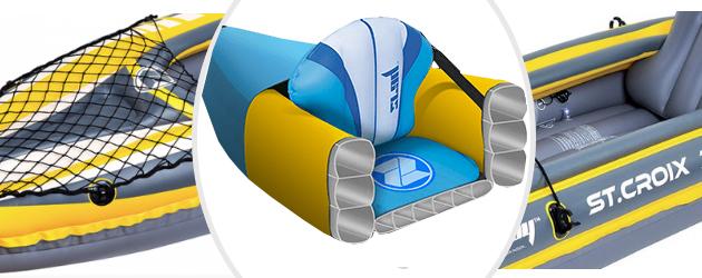 Kayak gonflable Zray STE-CROIX 2 places - Une structure en PVC armé robuste