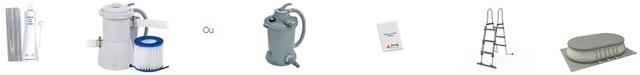 Piscine autoportante rectangulaire Jilong CHINOOK 540x304x106cm filtration cartouche - Piscine hors-sol autoportante Jilong CHINOOK 540 x 304 x 106 cm filtration cartouche