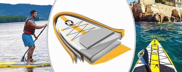 Paddle gonflable R2 Zray - Paddle gonflable R2 Zray Une double peau plus résistante