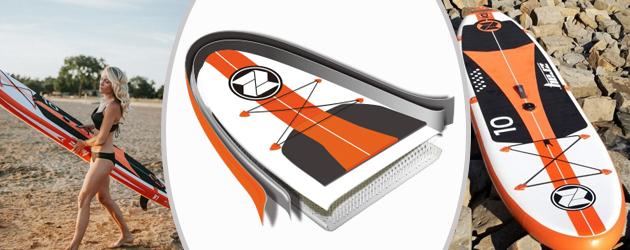 Paddle gonflable W1 Zray avec voile - Paddle gonflable W1 Zray Une double peau plus résistante