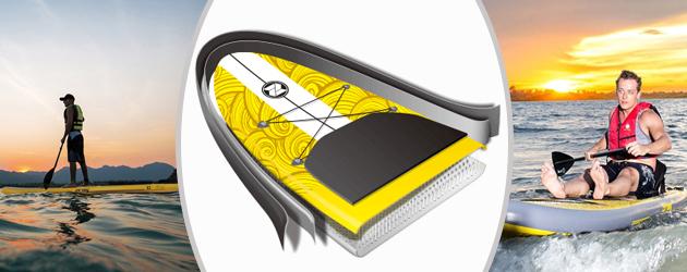Paddle gonflable X2 Zray - Paddle gonflable X2 Zray Une double peau plus résistante