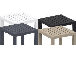 Table basse de jardin pliante MARIUS en aluminium 5 couleurs ...