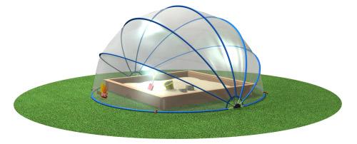 Abri rond piscine ou spa SUNNY TENT L Ø5,40xH2,70m - Utilisations possibles de l'abri rond piscine ou spa SUNNY TENT L