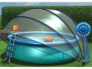 abri ovale piscine ou spa sunny tent m l6 50xh2 20m sur. Black Bedroom Furniture Sets. Home Design Ideas