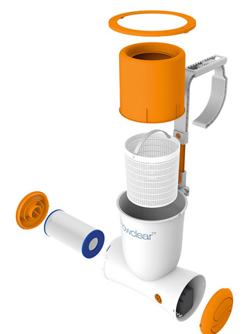 Skimmer immerge SKIMATIC filtre cartouche 2.5m3/h piscine hors-sol - Caractéristiques du skimmer Filtre à Cartouche Immergé Skimatic