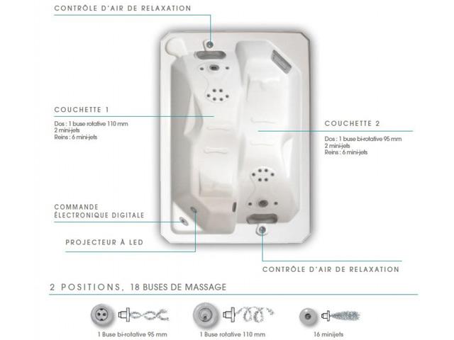 Spa portable ANTARES 2.18SB BWT myPOOL 2 places - Spa ANTARES, complet pour une détente maximale