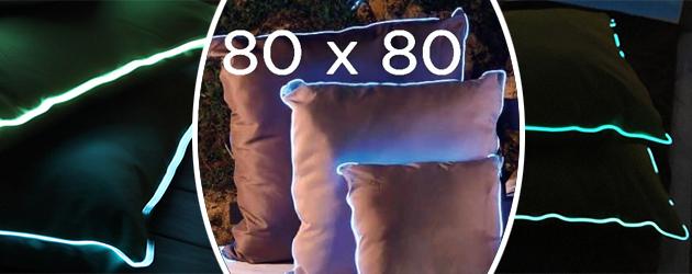 Lot de 2 coussins piscine lumineux Sunvibes 80x80cm - Lot de 2 coussins lumineux piscine Sunvibes 80x80cm