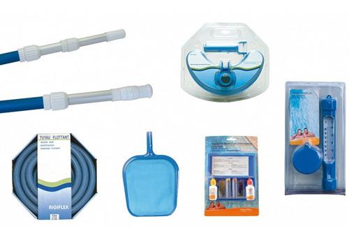 Kit piscine P-PVC PARADIS BLEU BWT myPOOL 6.50x3.50x1.55m liner gris - Kit piscine P-PVC PARADIS BLEU liner gris un kit complet