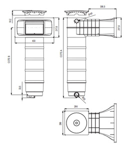 Filtre a cartouche SKIMFILTRE Weltico A400 ELEGANCE C7 beton liner 24m³/h - Détails du filtre à cartouche SKIMFILTRE Weltico A400 ELEGANCE