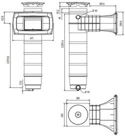 Filtre a cartouche SKIMFILTRE Weltico A400 ELEGANCE C6 panneau liner 20m³/h - Détails du filtre à cartouche SKIMFILTRE Weltico A400 ELEGANCE