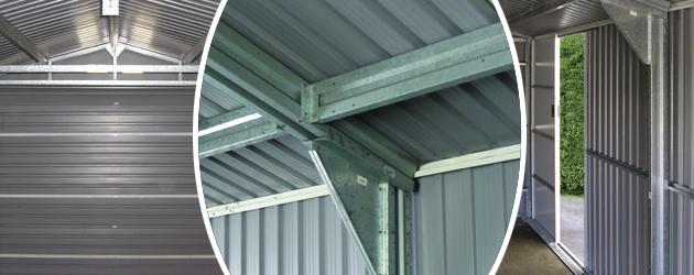 Garage metal Duramax 19,95m² grande hauteur 2,60m - Garage métal Duramax 19,95m² grande hauteur 2,60m