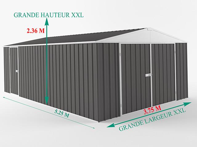 Garage metal EasyShed COLORBOND XXL 19,70m² - Dimensions du garage EasyShed COLORBOND XXL 19,70m²