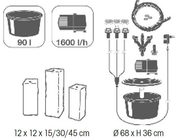 Kit complet fontaine de jardin MODENA Ubbink - Caractéristiques de la fontaine de jardin MODENA Ubbink