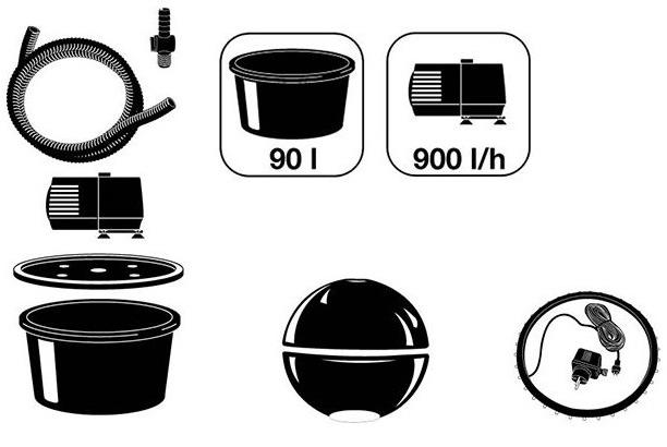 Kit complet fontaine de jardin DUBAI Ubbink - Caractéristiques de la fontaine de jardin DUBAI Ubbink